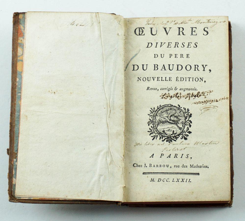 Oeuvres Diverses du Pere Du Baudory – 1762
