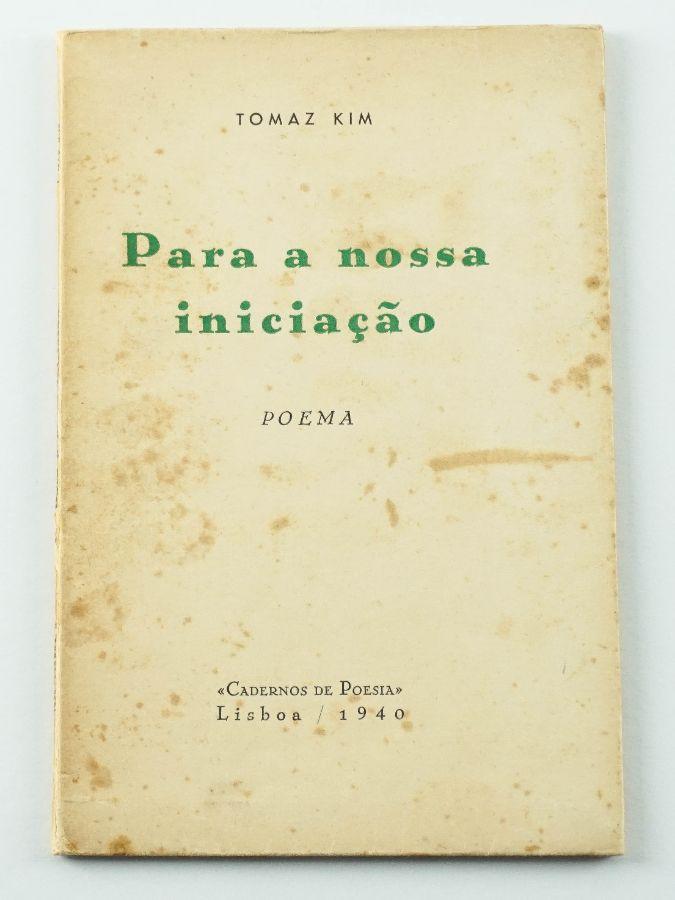 Tomaz Kim – primeiro livro do autor - com dedicatória