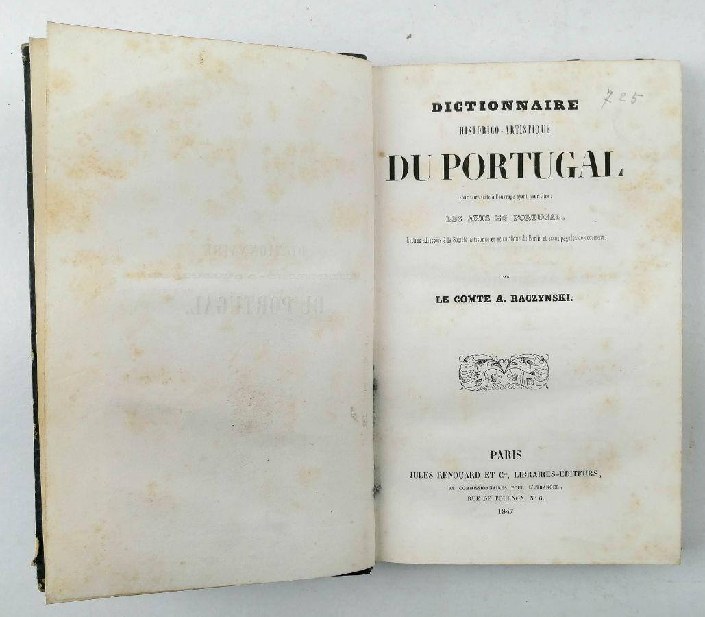Dictionnaire Historico – Artistique Du Portgual