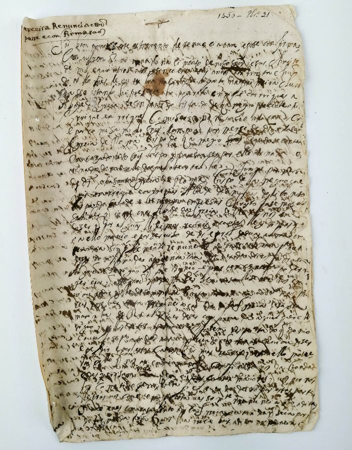 Instrumento de Renunciação, Posse e Confirmação, 1456