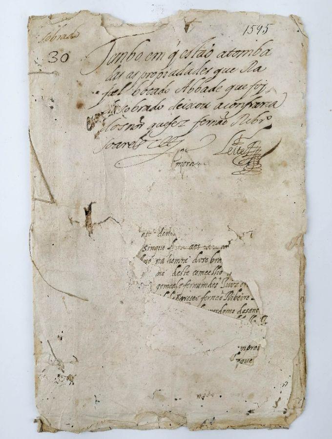 Manuscrito Confraria do Santissimo Sacramento, 1595