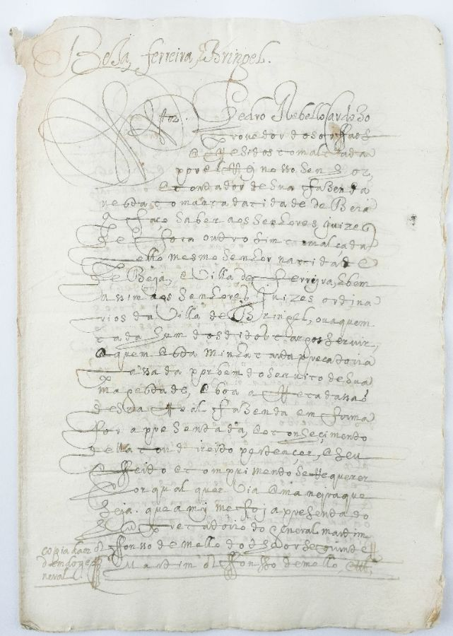 BEJA, FERREIRA E BERINGEL. CARTA PRECATÓRIA PARA COBRANÇA DA DÉCIMA - 1642