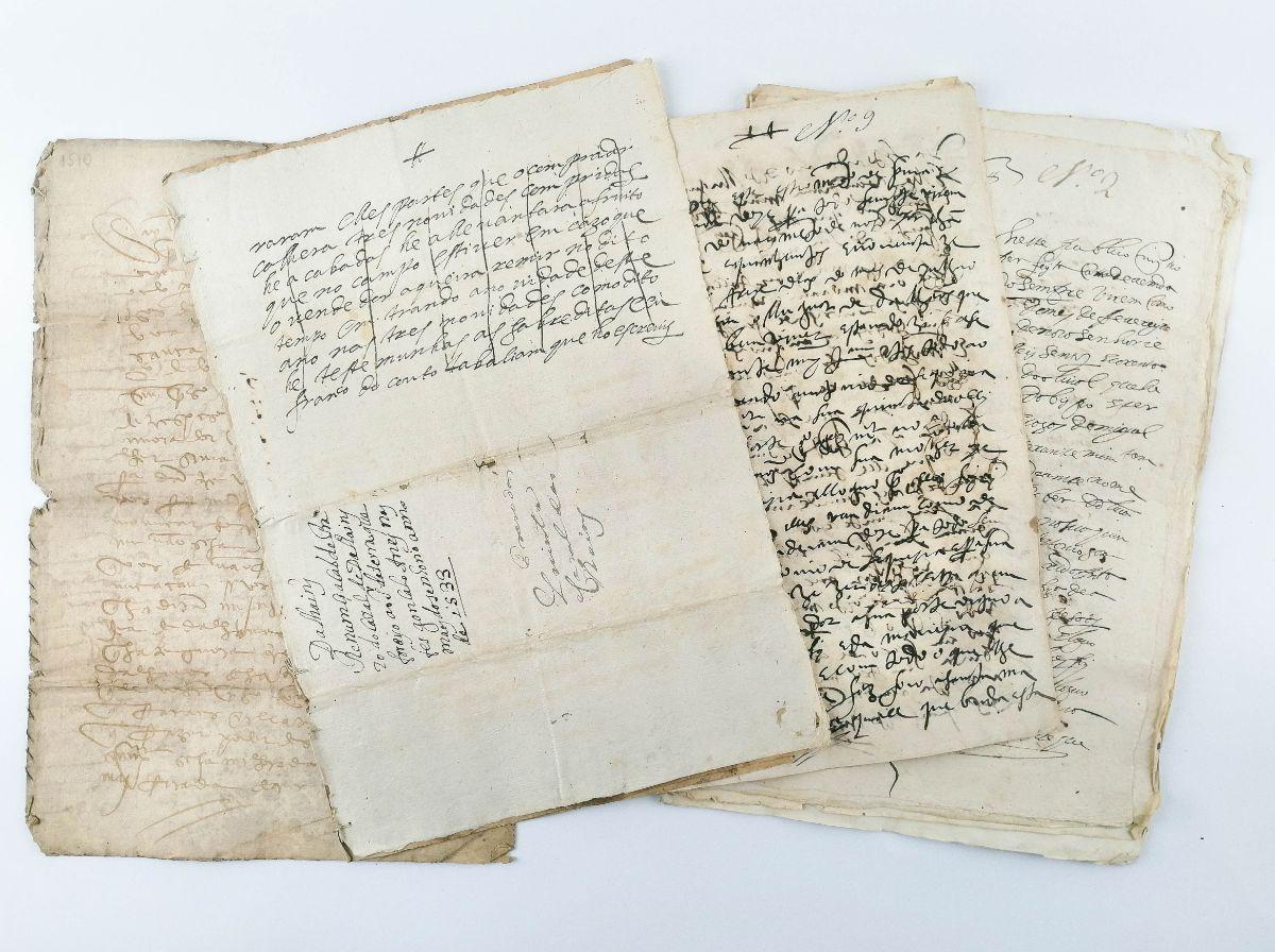 5 ESCRITURAS MUITO ANTIGAS - DALHÃES, AVESSADAS. MARCO DE CANAVESES - 1510 - 1683