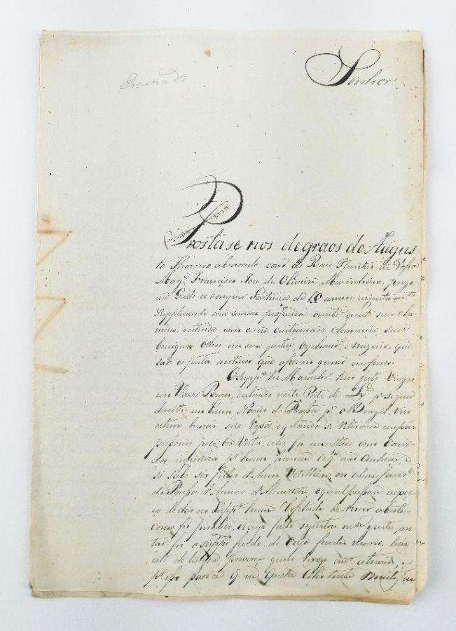 PEDIDO DE INDULTO RÉGIO DE FRANCISCO JOSÉ DE OLIVEIRA, CONDENADO POR HOMICÍDIO . SÉC XIX