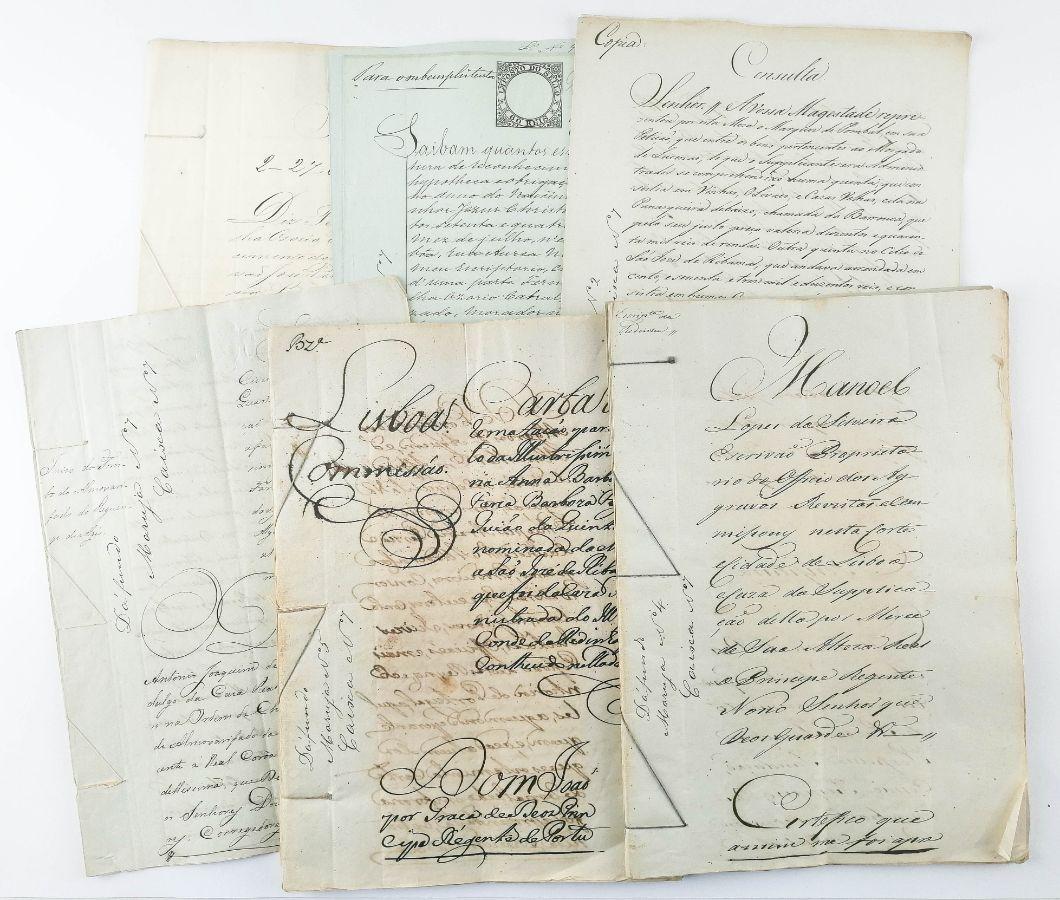 LOTE DE MANUSCRITOS. PEREIRA PALHA. QUINTA DA MARUJA, DAFUNDO. 1805 - 1874.