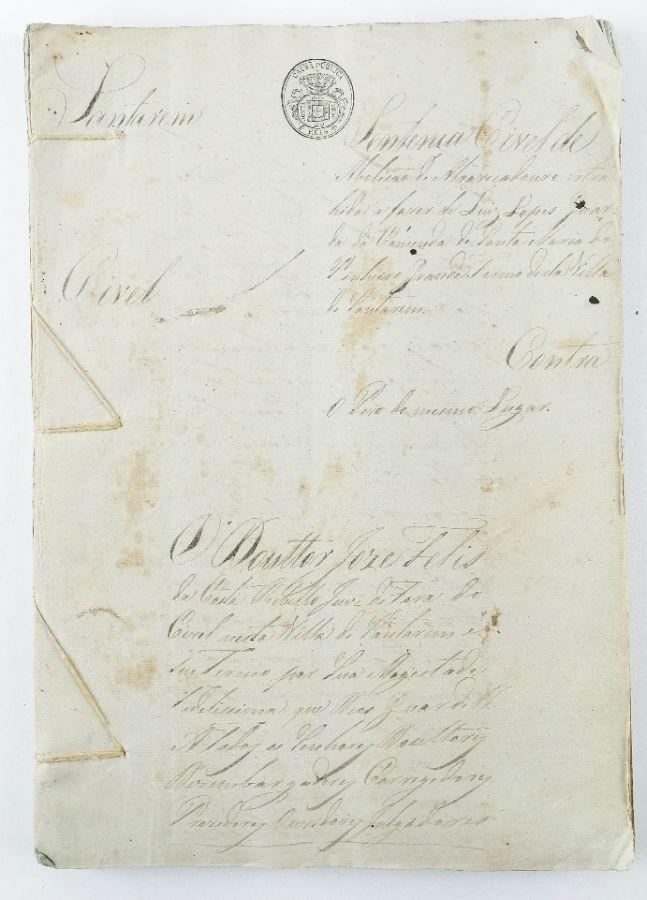 COMENDA DE SANTA MARIA DO PINHEIRO GRANDE - SENTENÇA CÍVEL. 1831