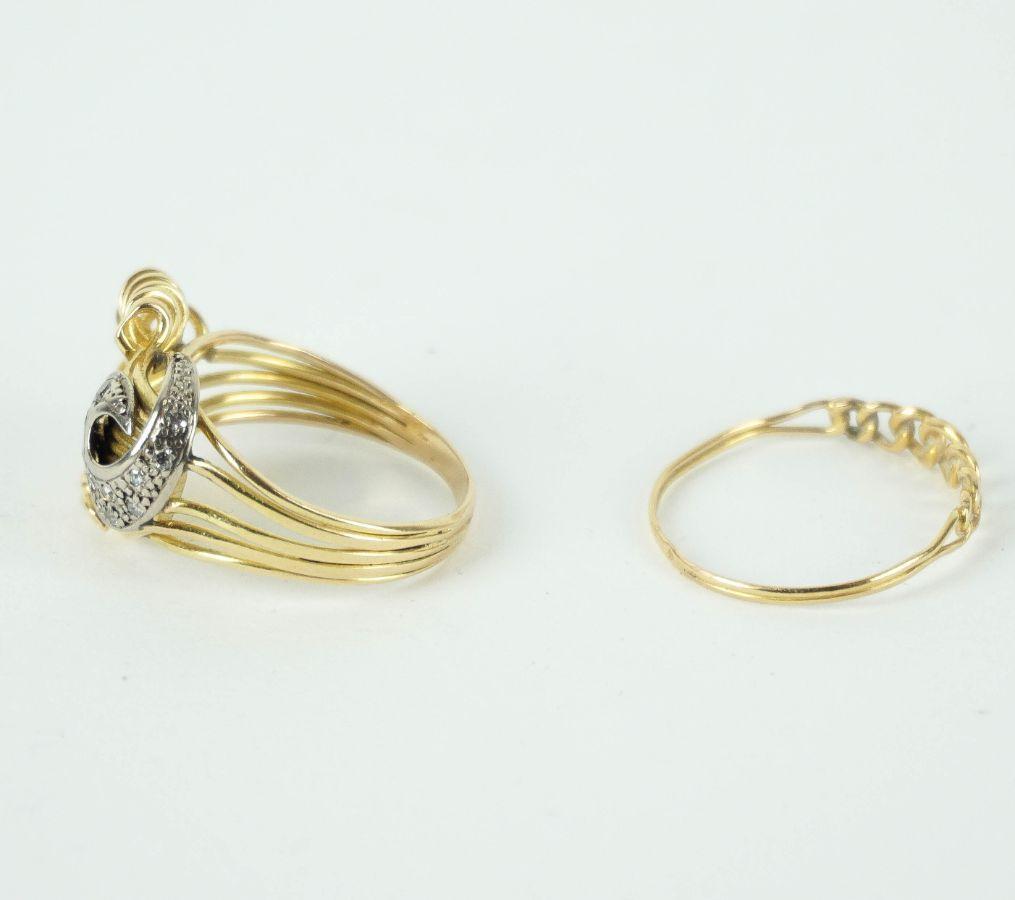 2 Anéis em Ouro