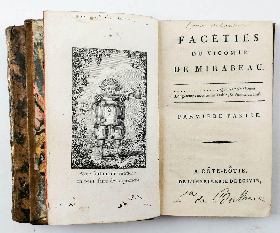 1ª edição do visconde de Mirabeau (1790)