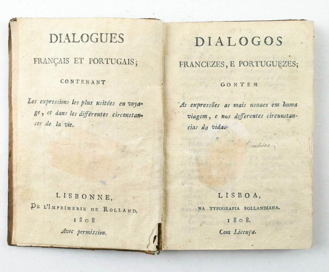 Invasões Francesas – um manual de conversação francês-português (1808)