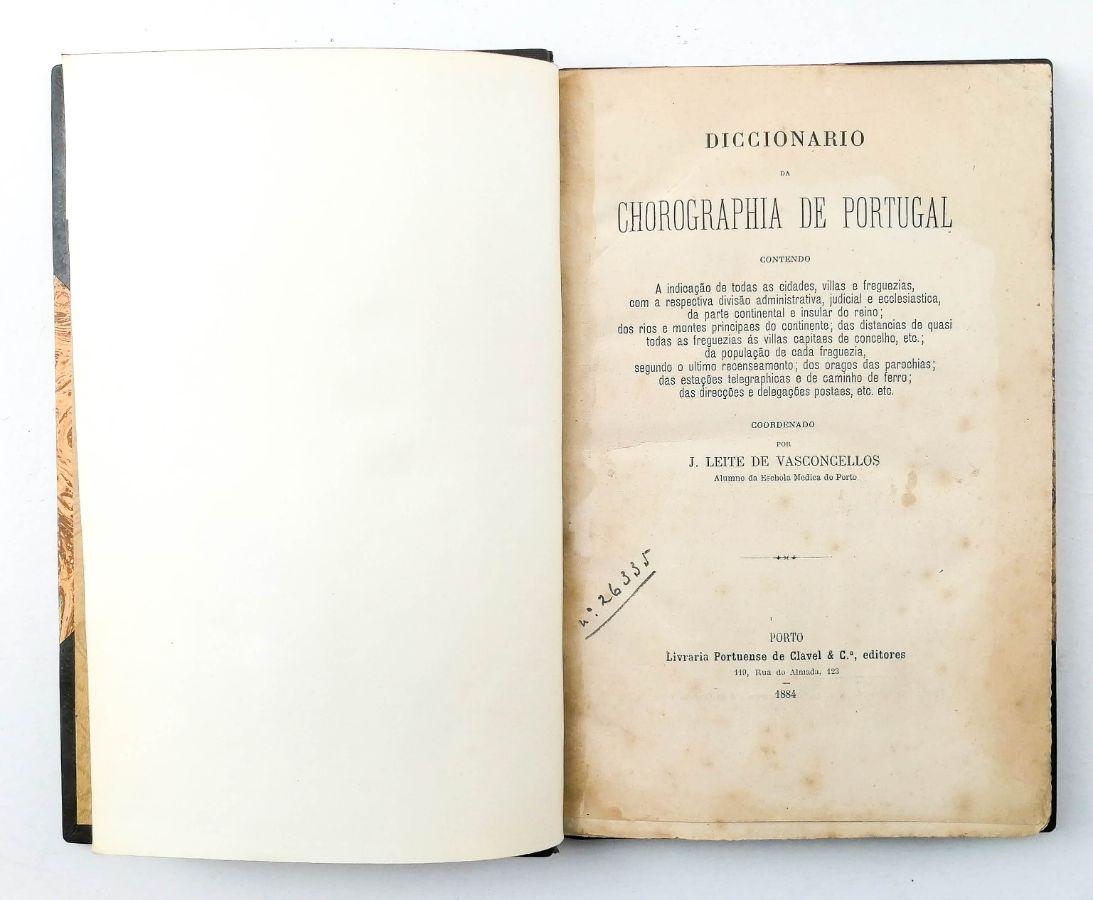 DICCIONARIO DA CHOROGRAFIA DE PORTUGAL