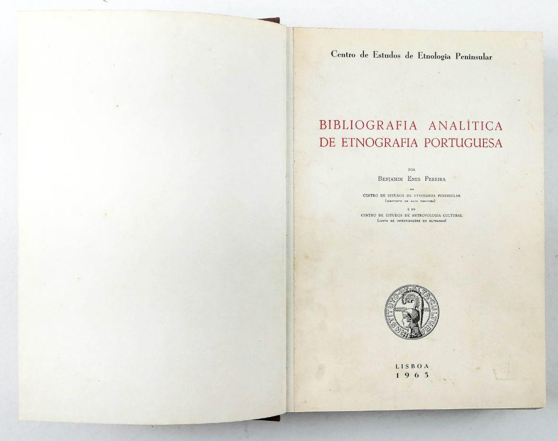 BIBLIOGRAFIA ANALÍTICA DE ETNOGRAFIA PORTUGUESA