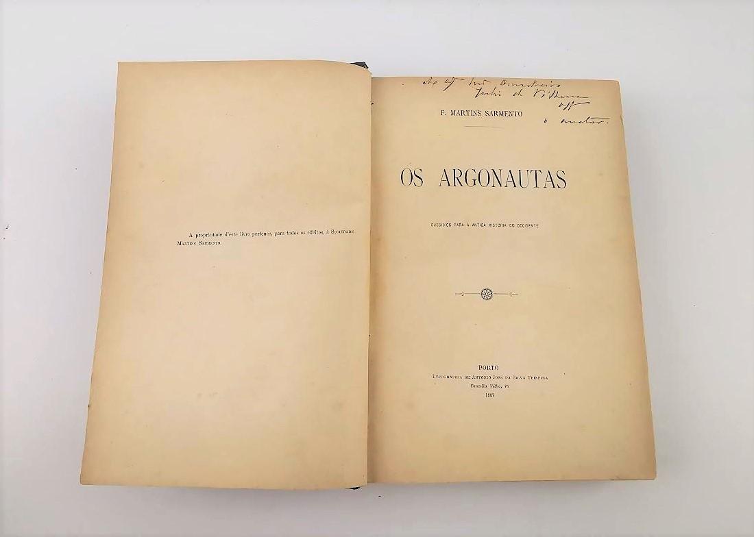 OS ARGONAUTAS (SUBSÍDIOS PARA A ANTIGA HISTÓRIA DO OCCIDENTE)