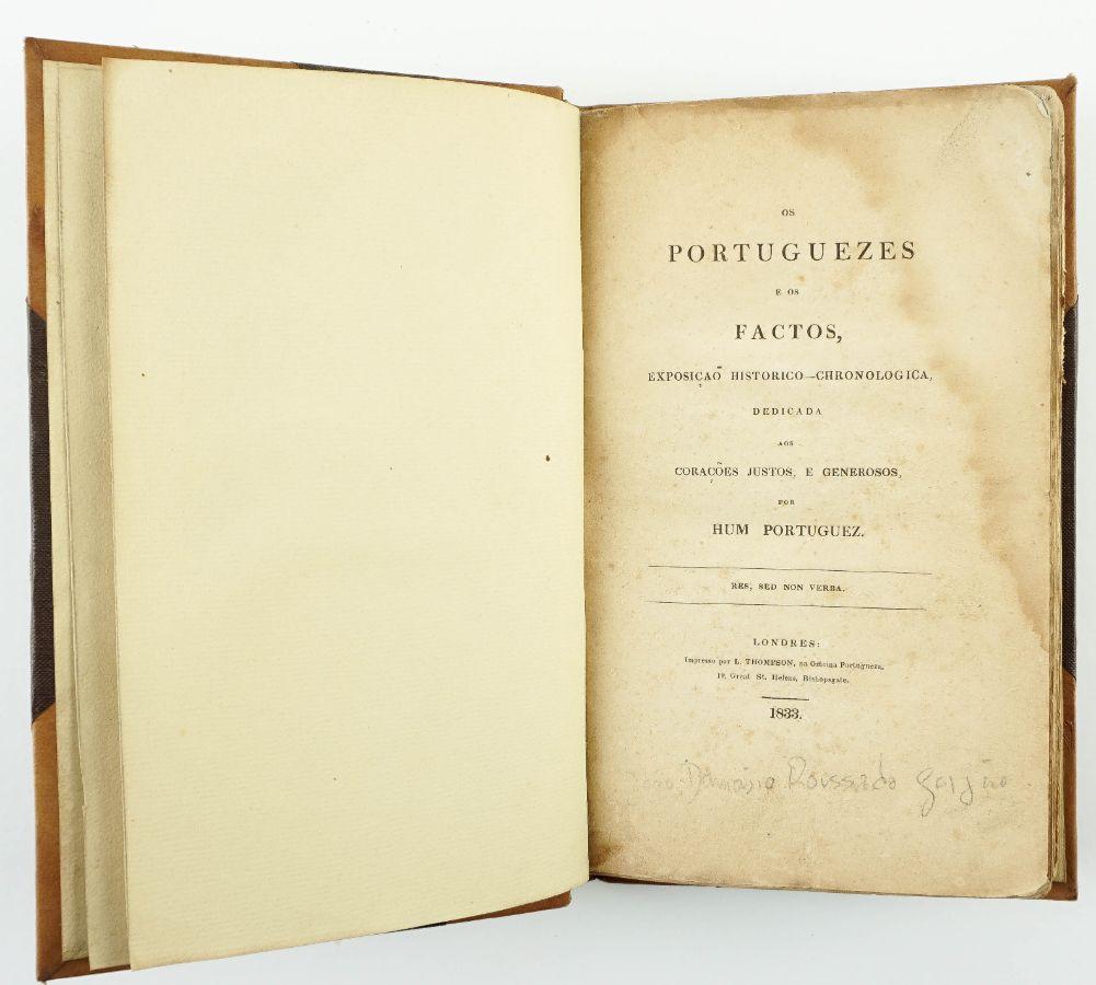 Obra publicada em Londres em defesa do Liberalismo (1833)