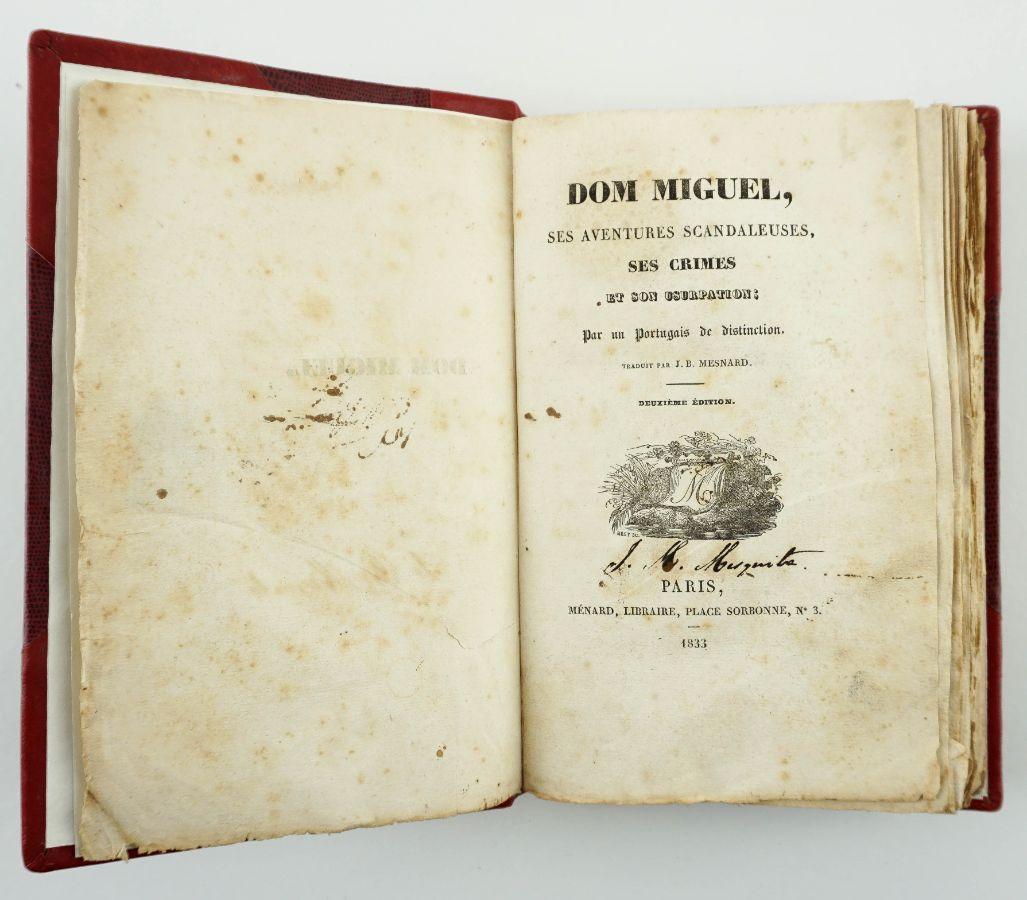 Aventuras e crimes de D. Miguel (1833)