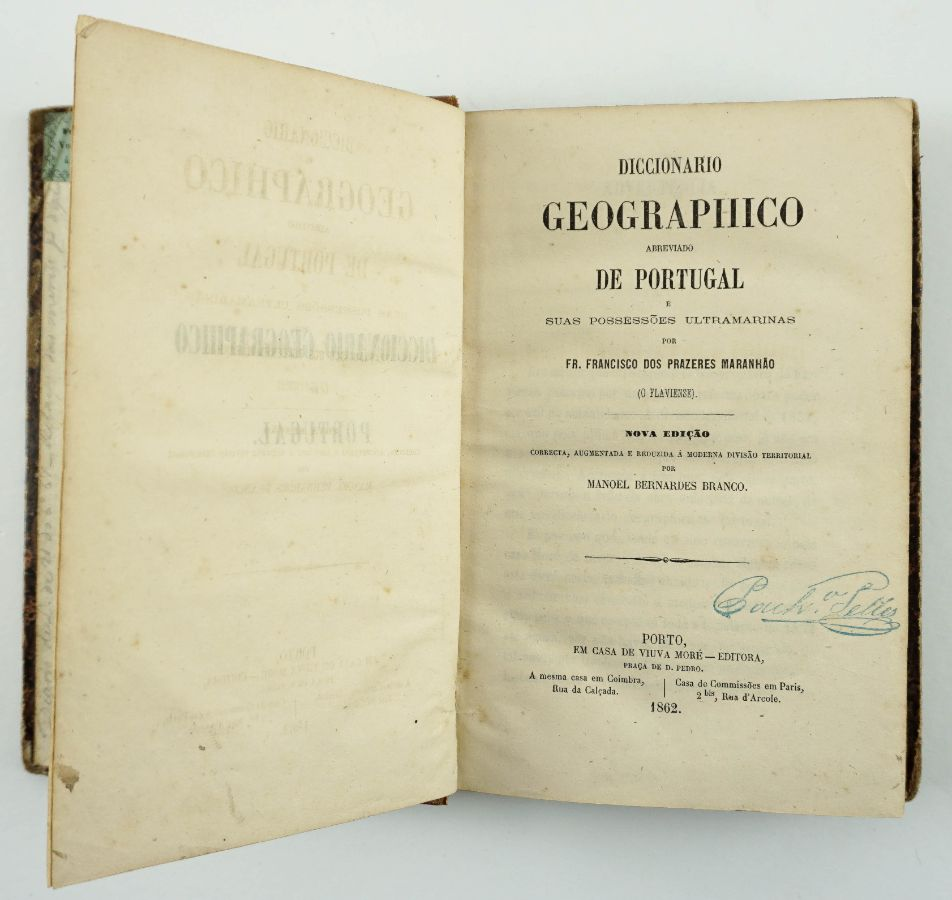 Dicionário geográfico de Portugal e possessões ultramarinas (1862)
