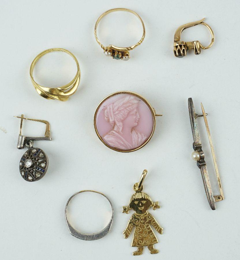 Diversas peças em ouro