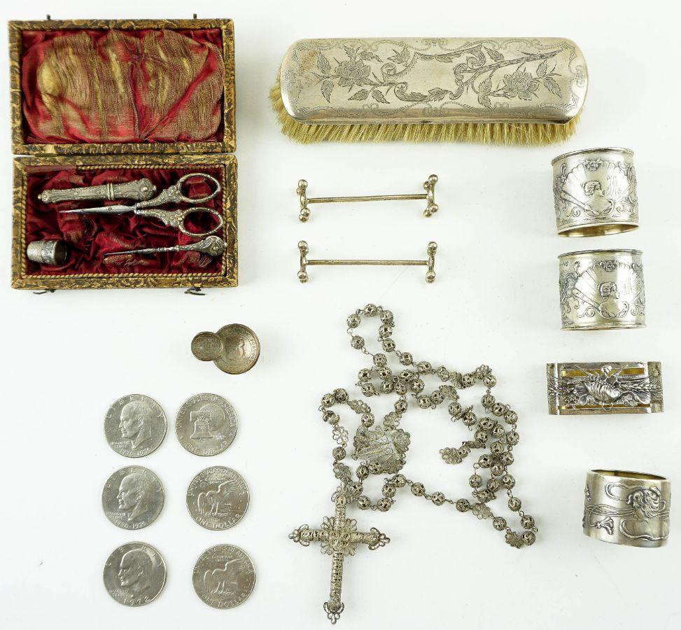 Diversas peças em prata