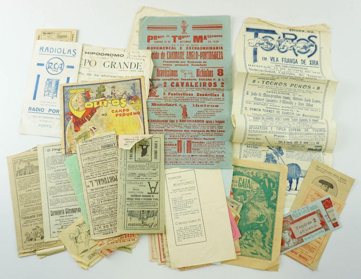 Colecção de Programas tauromáquicos dos anos 20 e 30