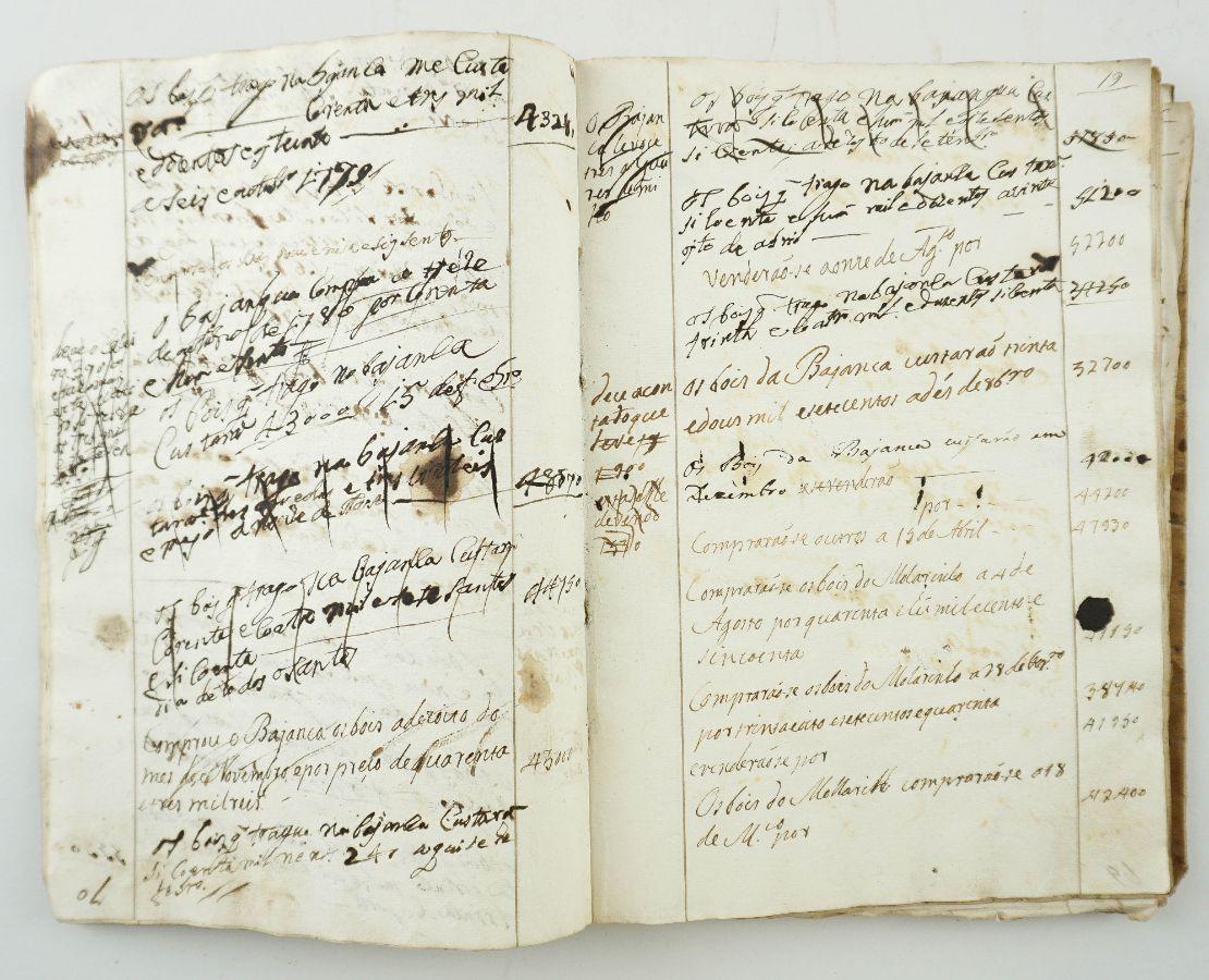 Caderno, diário manuscrito do Séc. XVIII