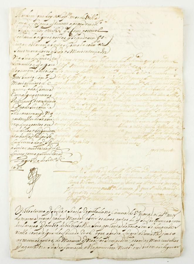 FORTALEZA DE VILA NOVA DE PORTIMÃO. PETIÇÃO DOS MORADORES. 1695