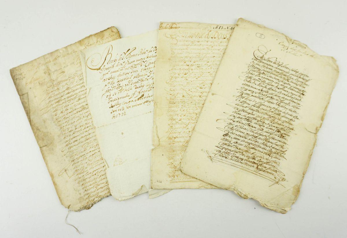 CONDE DE AVINTES - VÁRIAS ESCRITURAS. 1684 - 1744
