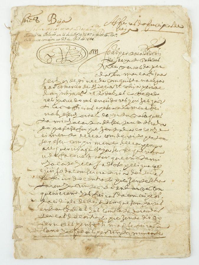 BEJA. ACÓRDÃO DA RELAÇÃO. FREIRAS DA CONCEIÇÃO DE BEJA. 1647.