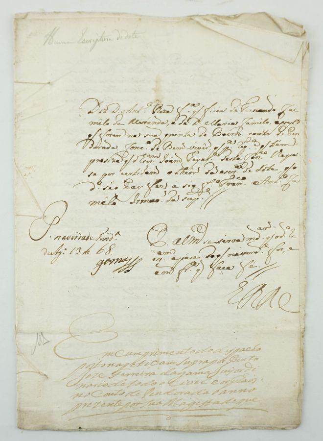QUINTA DO BAIRRO. FERNANDO CAMELO DE MIRANDA. CONCELHO DE BEMVIVER. 1768