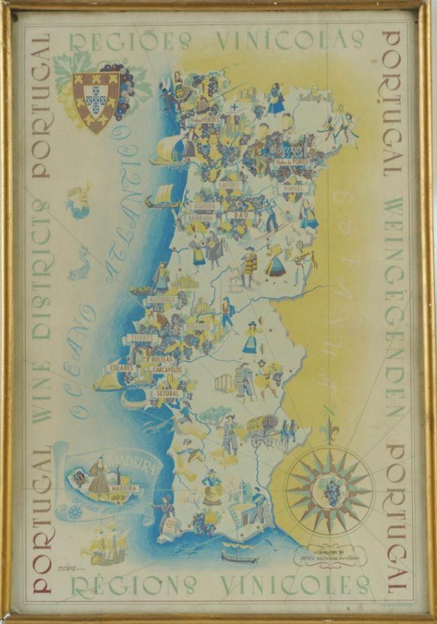 Mapa das Regiões Vinícolas Portuguesas