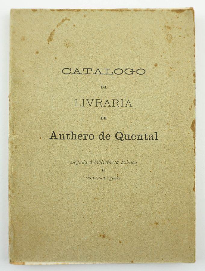 Catálogo da Livraria de Anthero de Quental (1899)