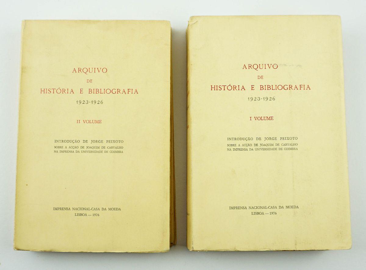 Arquivo de História e Bibliografia 1923-1926