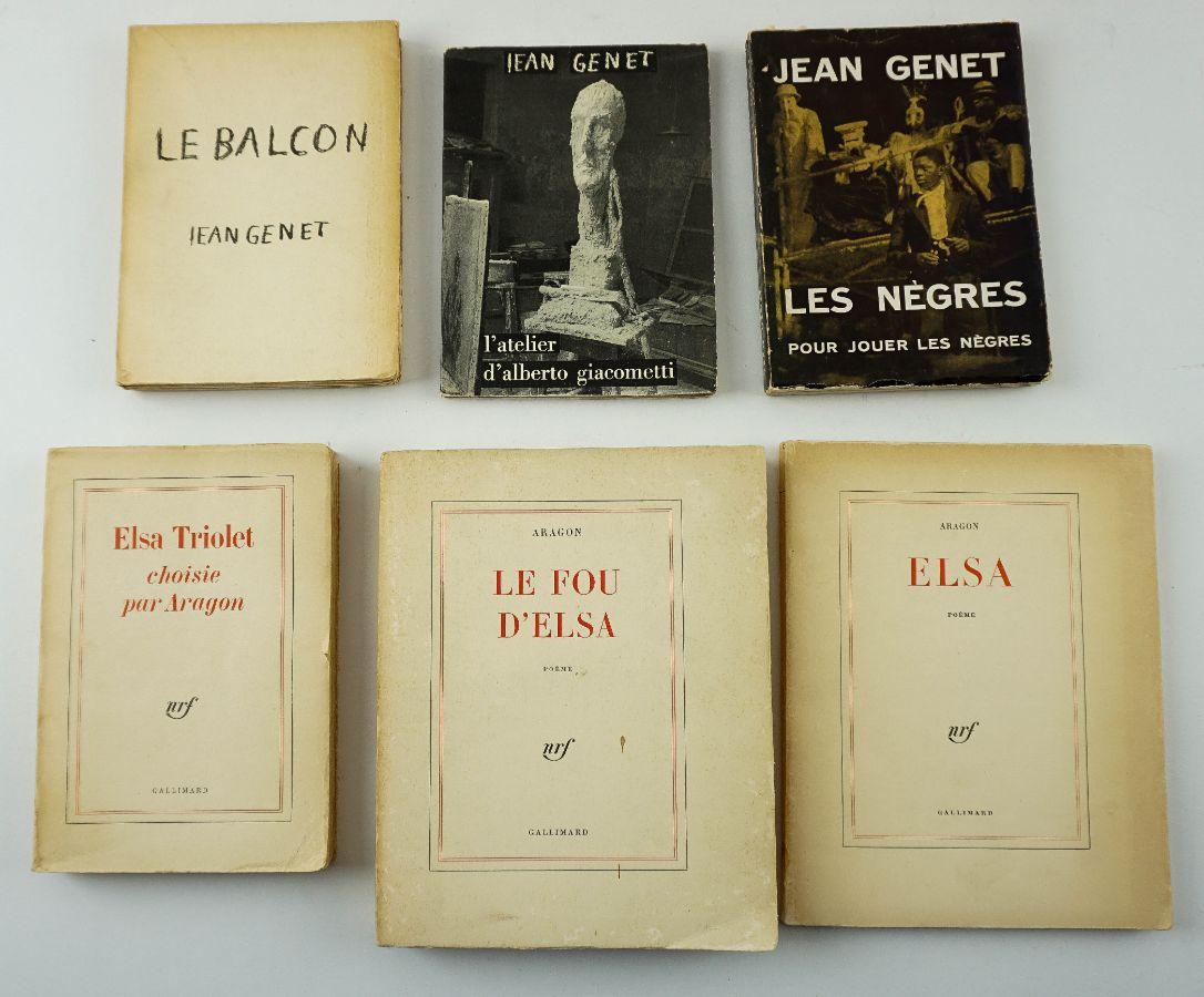 Aragon, Literatura Francesa – Primeiras Edições e Jean Genet 3 livros