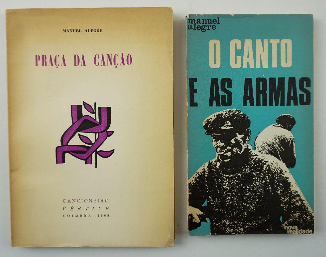 Manuel Alegre. Primeiros dois livros do autor