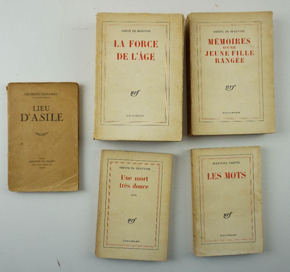 Autores Franceses: Simone de Beauvoir / Jean – Paul Satre / Georges Duhamel – Primeiras Edições