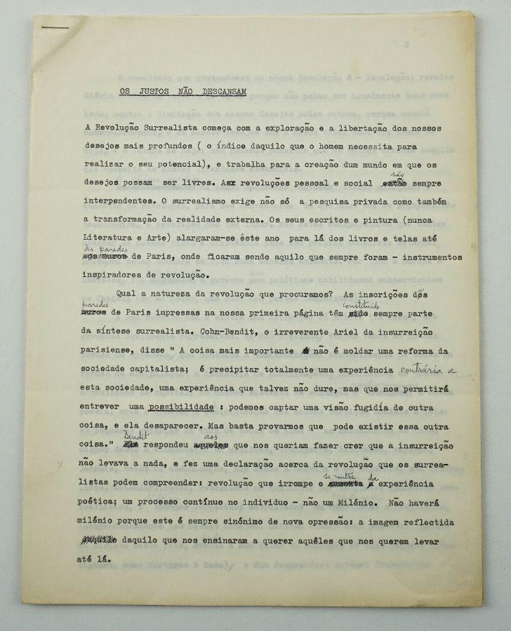 Texto Surrealista – Mário Cesariny