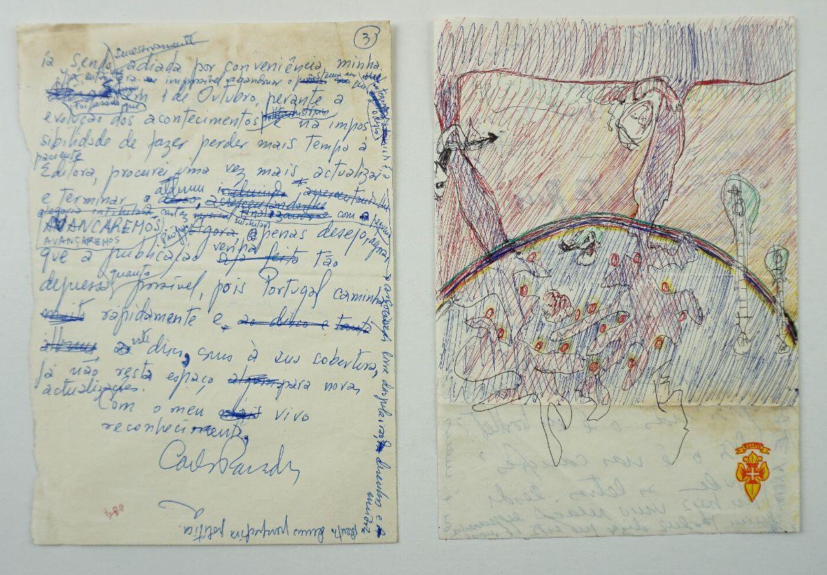 Carlos Paredes Manuscrito e desenho