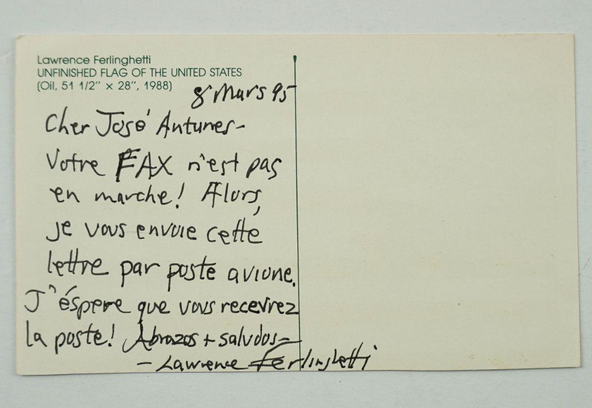 Lawrence Ferlinghetti – Manuscrito