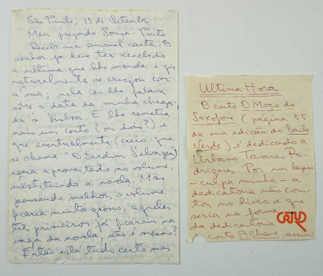 Lygia Fagundes Telles - manuscrito
