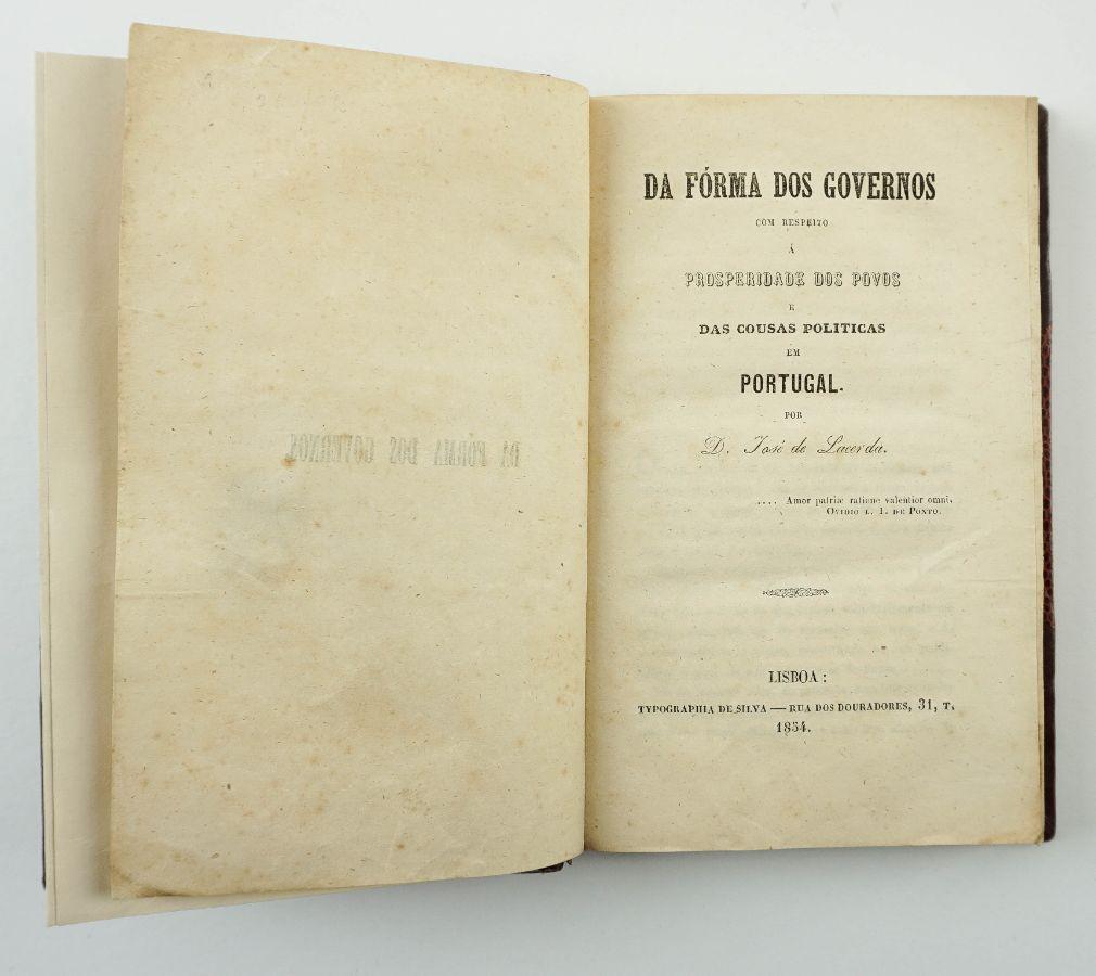 Uma reflexão política na Regeneração (1854)