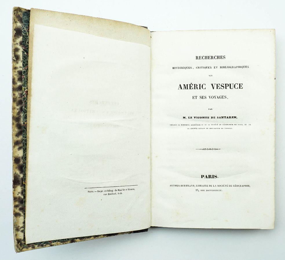 Visconde de Santarém - Américo Vespucio (1842)