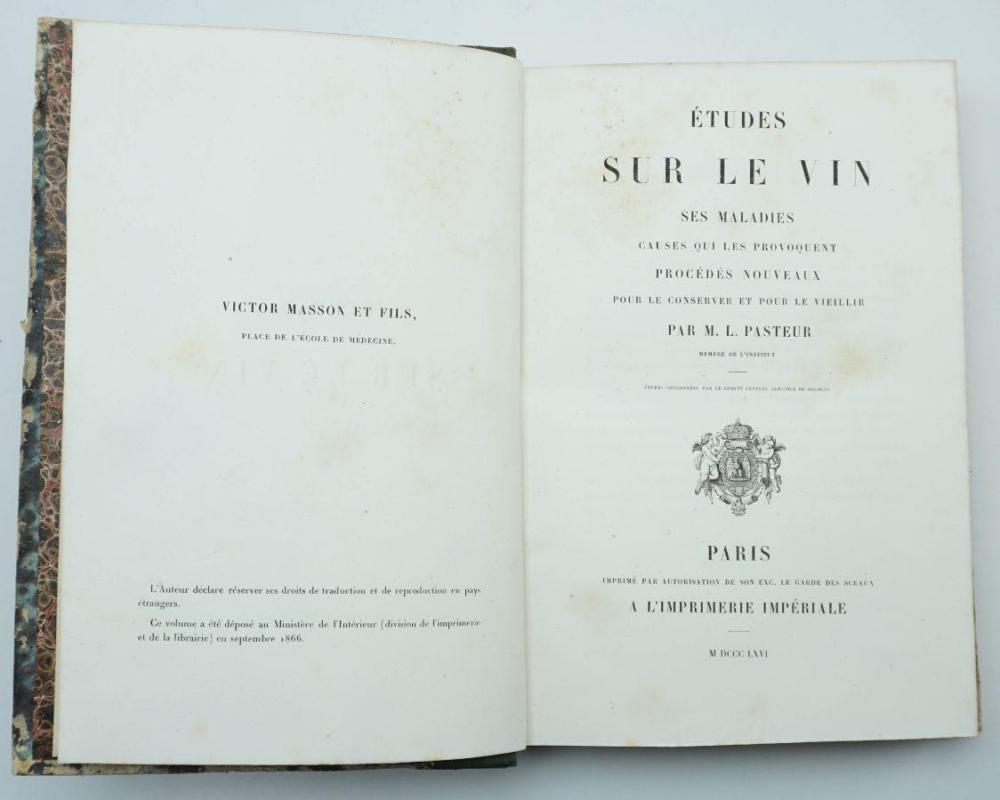 M. L. Pasteur - Études sur le Vin (1866)
