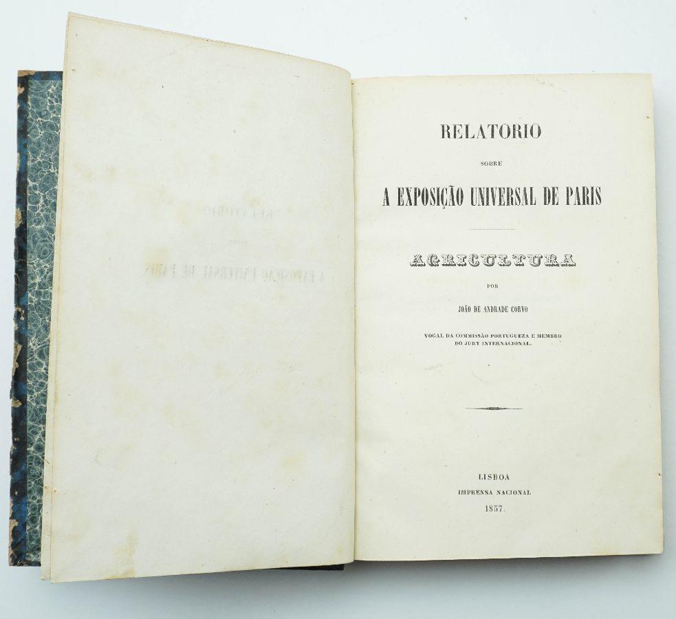 João Andrade Corvo - Agricultura (1857)
