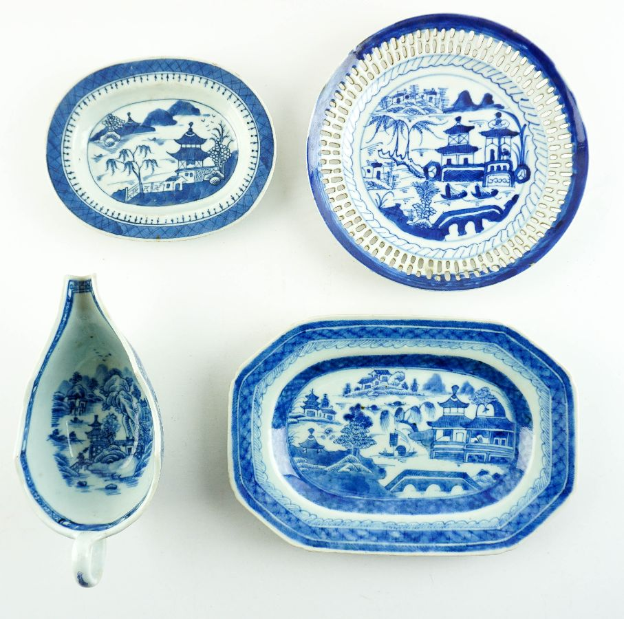 4 Peças em porcelana da China