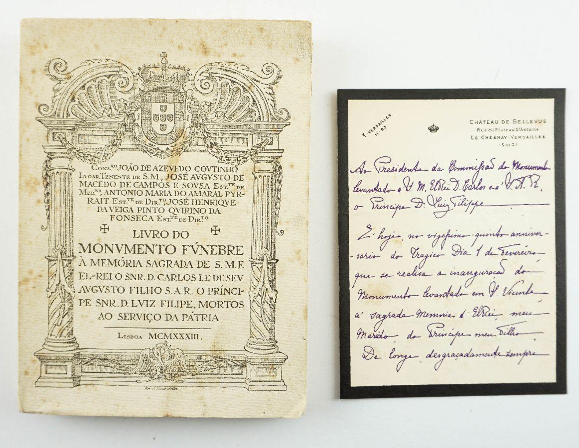 Livro do Monumento Fúnebre à Memória Sagrada de S.M.F. El-Rei o