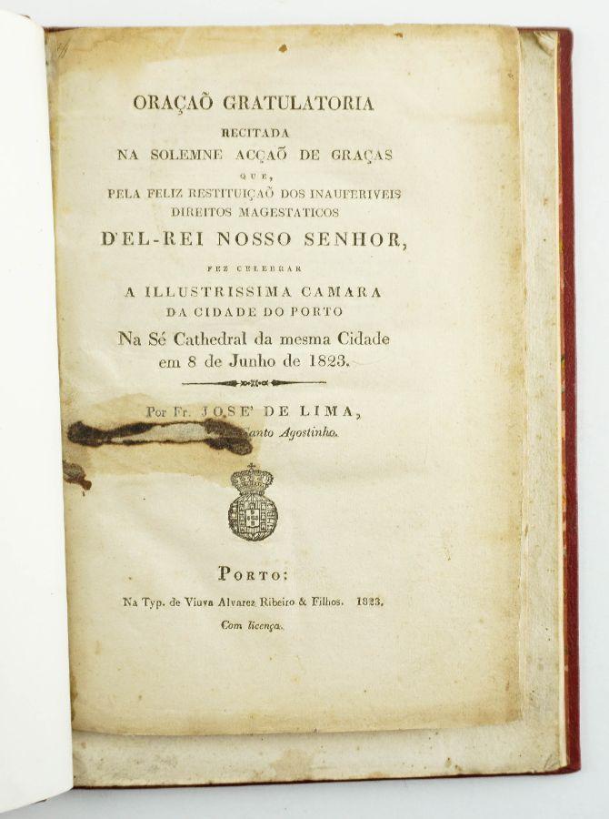 Documento Oração Gratulatoria recitada na solemne acção de (...)