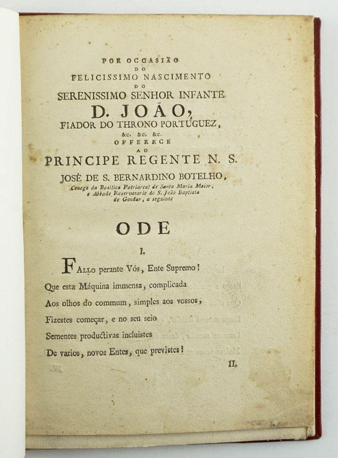 Documento , Por Occasião do Felicissimo Senhor Infante D.João