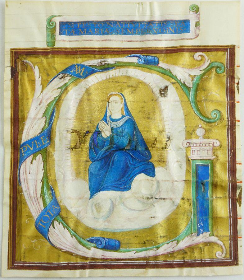 Pintura de livro de Cantochão