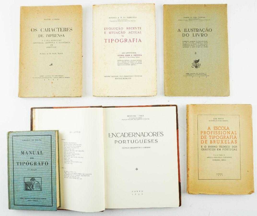 6 Livros sobre encadernadores e tipografia