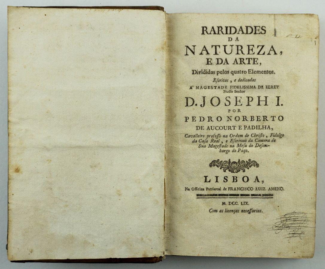 Raridades da Natureza e da Arte (1759)
