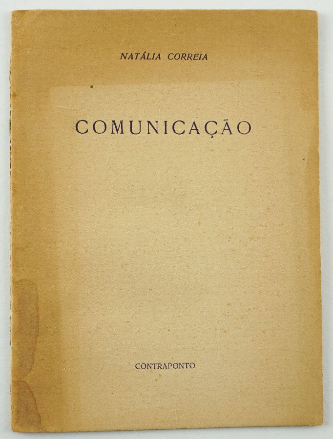 Natália Correia. COMUNICAÇÃO.