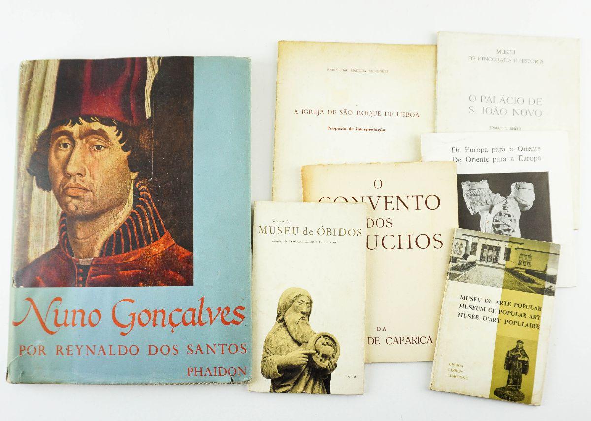 1 Livro Nuno Gonçalves por Reynaldo dos Santos e conjunto de 6 roteiros